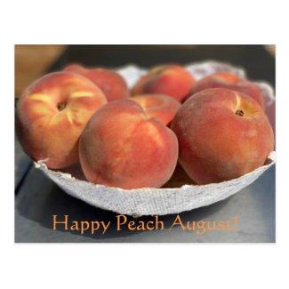 Happy Peach August! Postcard