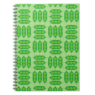 Happy Peapods Spiral Notebook