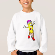 Happy Pencil Back to school, writing, smiling Sweatshirt