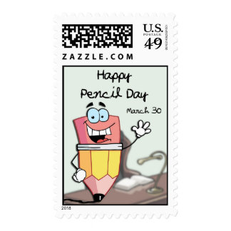 Happy Pencil Day March 30 Postage
