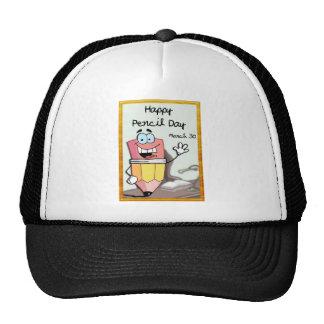 Happy Pencil Day March 30 Trucker Hat