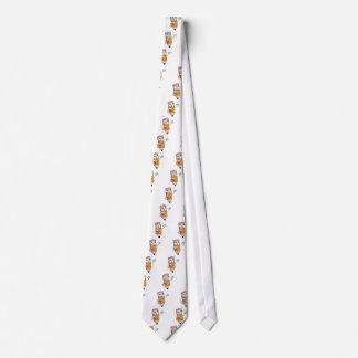 Happy Pencil Waving Neck Tie