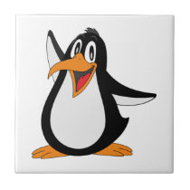 Happy penguin animation cartoon illustration tile