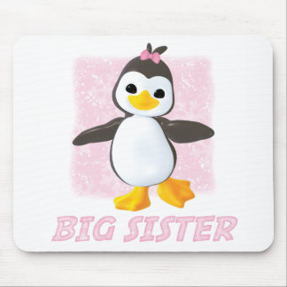 Happy Penguin Big Sister Mouse Pad