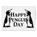 Happy Penguin Day Greeting Card