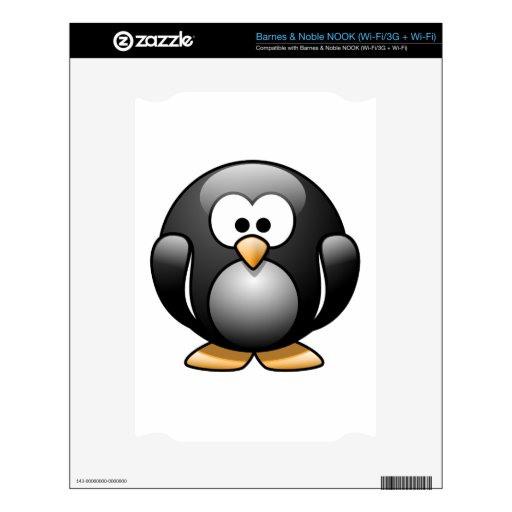 Happy Penguin Decal For The NOOK
