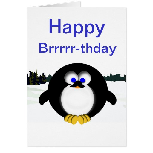 Happy penguin greeting card zazzle for Penguin christmas cards homemade
