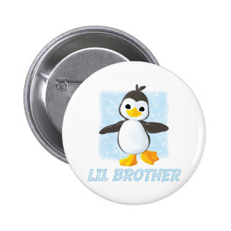 Happy Penguin Little Brother Pinback Button