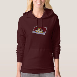 Happy Penguins Womens Hoodie
