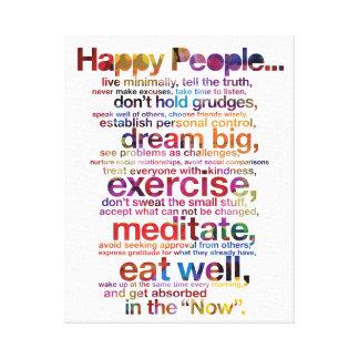 Happy People Canvas Print