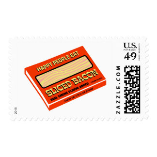 Happy People Eat Bacon Postage Stamp