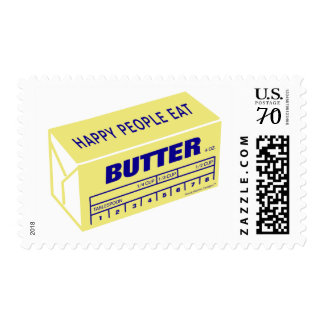 Happy People Eat Butter (Blue) Stamp