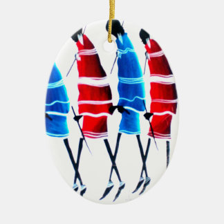 Happy People Masai Morans.png Ceramic Ornament