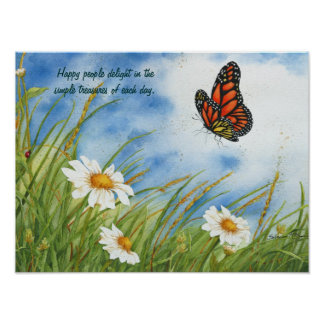 Happy People - Monarch Butterfly - Poster