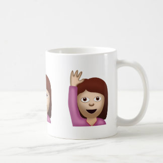 Happy Person Raising One Hand Emoji Coffee Mug