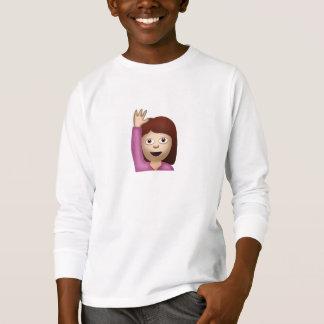 Happy Person Raising One Hand Emoji T-Shirt