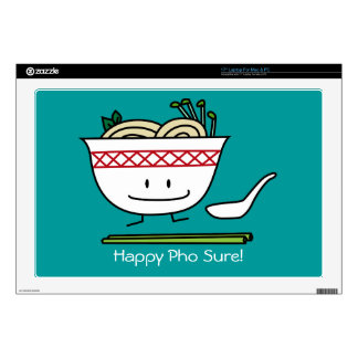 """Happy Pho Noodle Bowl 17"""" Laptop Decal"""