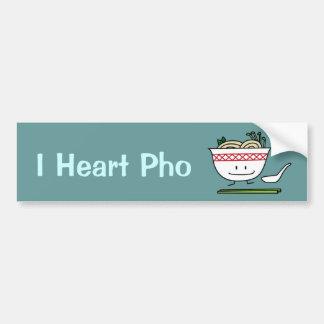 Happy Pho Noodle Bowl Bumper Sticker