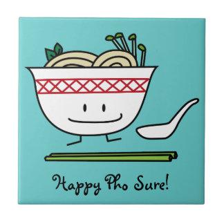 Happy Pho Noodle Bowl Ceramic Tile
