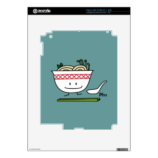 Happy Pho Noodle Bowl Decal For iPad 2