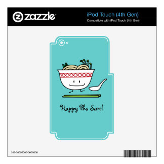 Happy Pho Noodle Bowl Decal For iPod Touch 4G