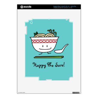 Happy Pho Noodle Bowl Decals For iPad 3