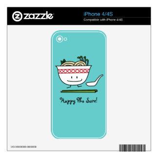 Happy Pho Noodle Bowl iPhone 4 Skins