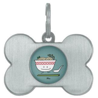 Happy Pho Noodle Bowl Pet ID Tag
