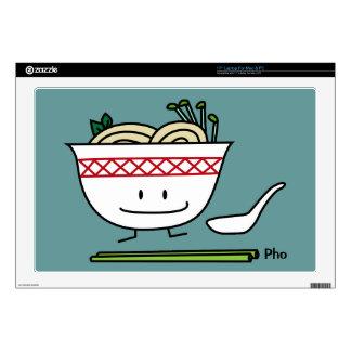 "Happy Pho Noodle Bowl Skin For 17"" Laptop"