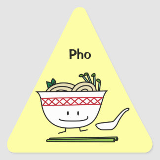 Happy Pho Noodle Bowl Triangle Sticker