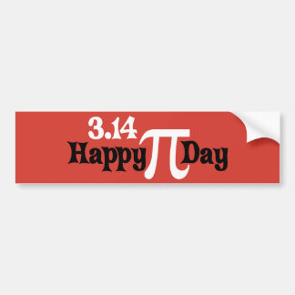 Happy Pi Day 3.14 - March 14th Bumper Sticker