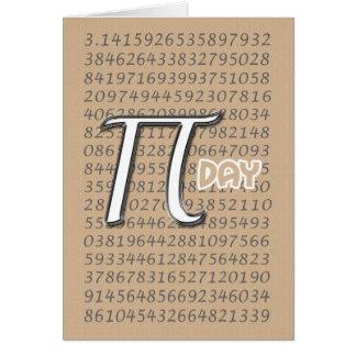 Happy Pi Day 3.14 March 14th Card