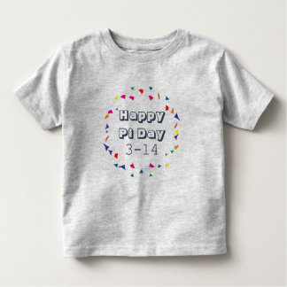 Happy Pi Day 3-14 March 14th Math Theme Toddler T-shirt