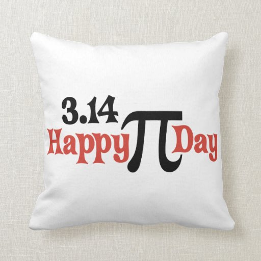 Happy Pi Day 3.14 - March 14th Pillow