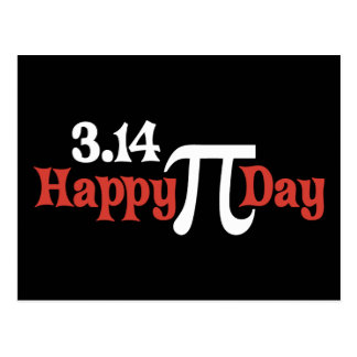 Happy Pi Day 3.14 - March 14th Postcard
