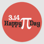 Happy Pi Day 3.14 - March 14th Round Sticker
