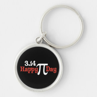 Happy Pi Day 3.14 - March 14th Silver-Colored Round Keychain