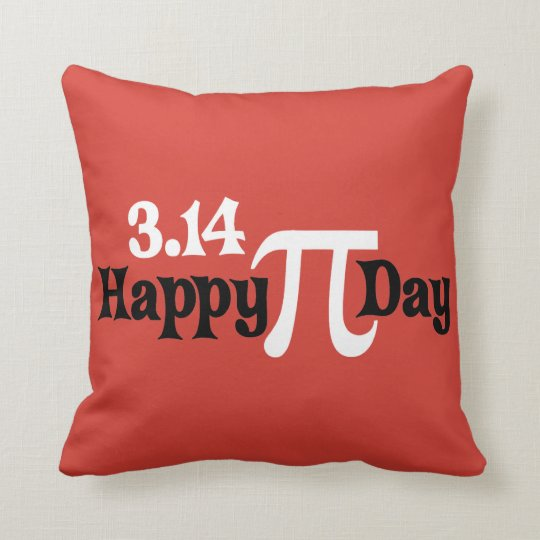 Happy Pi Day 3.14 - March 14th Throw Pillow