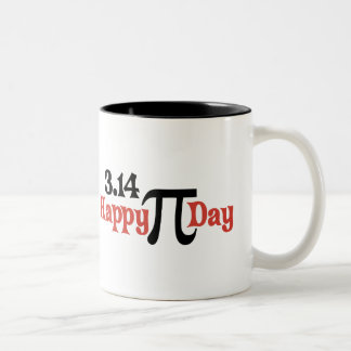 Happy Pi Day 3.14 - March 14th Two-Tone Coffee Mug