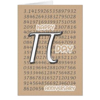 Happy Pi Day Anniversary 3.14 March 14th Card
