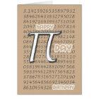 Happy Pi Day Birthday 3.14 March 14th Card