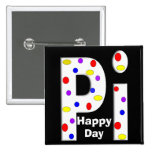 Happy Pi Day Buttons White Lettering