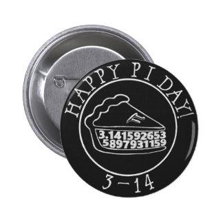 Happy Pi day chalkboard pie button