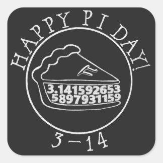 Happy Pi day chalkboard pie square sticker