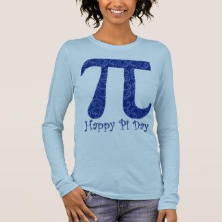 Happy Pi Day Dark Blue Swirls Long Sleeve T-Shirt