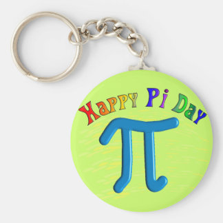 Happy Pi Day Gifts, Unique Embossed Design Basic Round Button Keychain