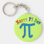 Happy Pi Day Gifts, Unique Embossed Design Key Chain