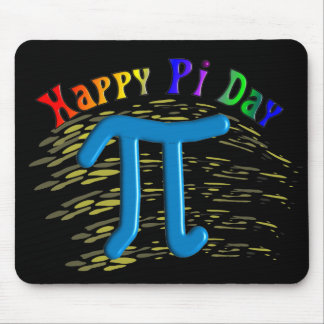 Happy Pi Day Gifts Unique Embossed Design Mousepads