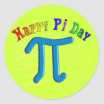 Happy Pi Day Gifts, Unique Embossed Design Sticker