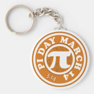 Happy Pi Day March 14 Basic Round Button Keychain